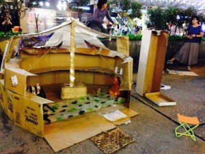 """occupy cardboard shacks"""