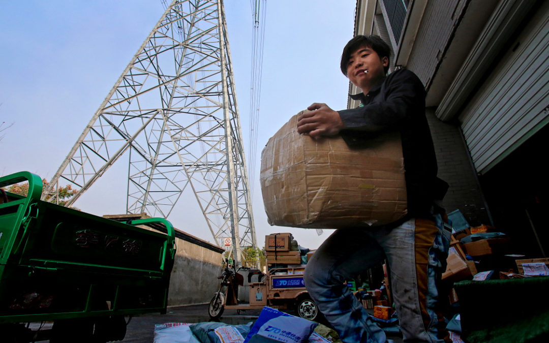 "Bicycle couriers in China's own ""logistics revolution"""